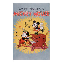 Vintage Mickey and Minnie Poster