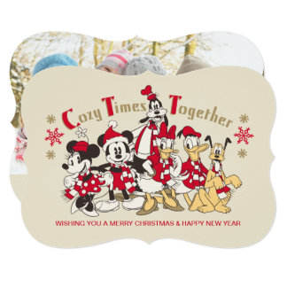 Vintage Mickey & Friends | Cozy Times Together Card