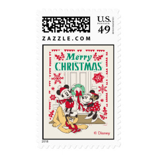 Vintage Mickey & Friends | Merry Christmas Postage