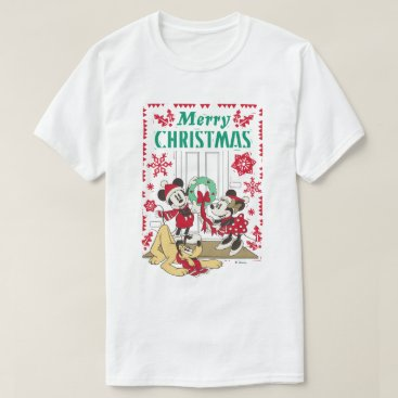 Disney Themed Vintage Mickey & Friends | Merry Christmas T-Shirt