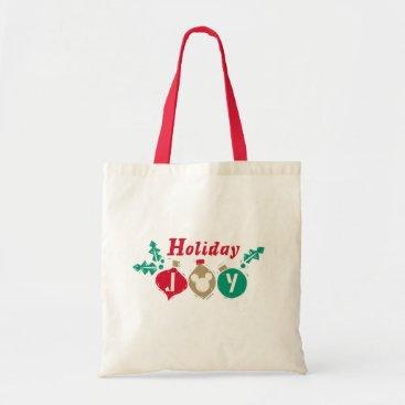 Disney Themed Vintage Mickey | Holiday Joy Tote Bag