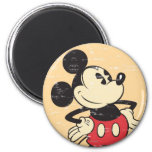Vintage Mickey Imán Redondo 5 Cm