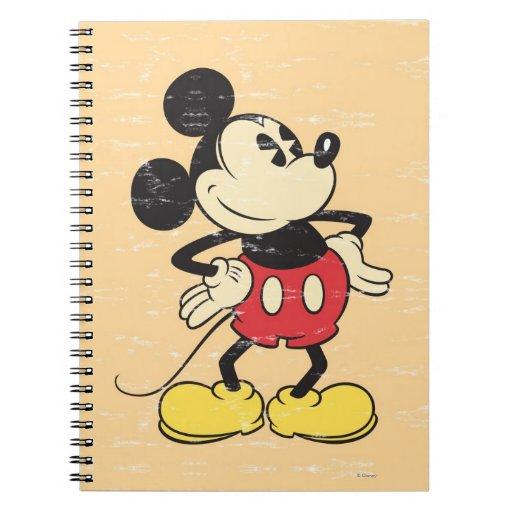 Vintage Mickey Libro De Apuntes
