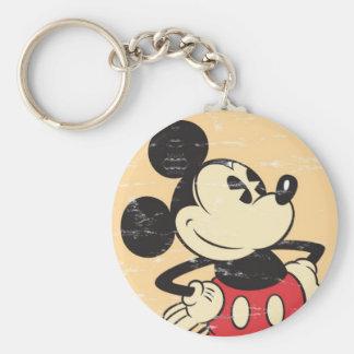 Vintage Mickey Llavero Redondo Tipo Pin