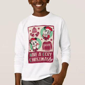 Vintage Mickey & Mickey   Have a Cozy Christmas T-Shirt