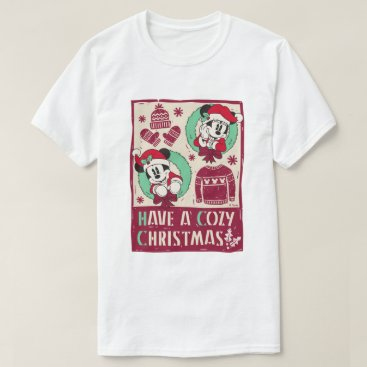 Disney Themed Vintage Mickey & Mickey | Have a Cozy Christmas T-Shirt