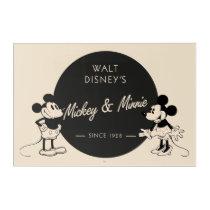 Vintage Mickey & Minnie Acrylic Print