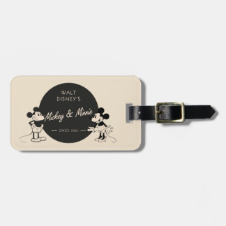 Vintage Mickey & Minnie Bag Tag