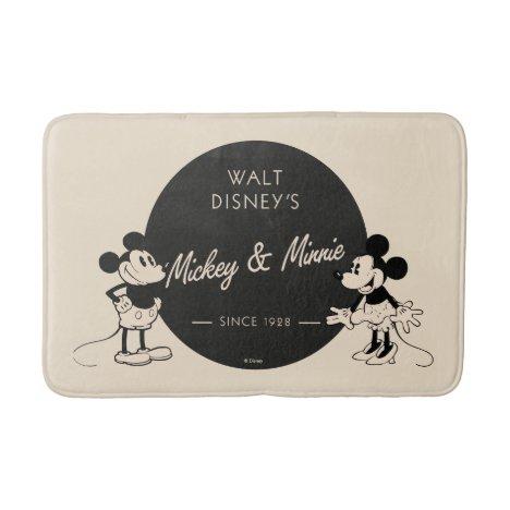 Vintage Mickey & Minnie Bathroom Mat