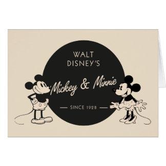 Vintage Mickey & Minnie Card