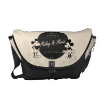 Vintage Mickey & Minnie Courier Bag