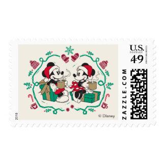 Vintage Mickey & Minnie | Cozy Christmas Postage