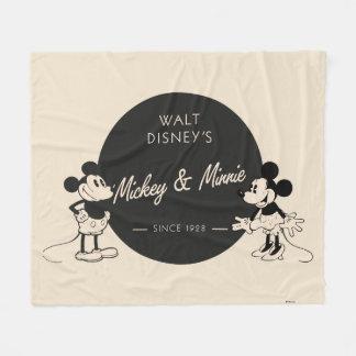 Vintage Mickey & Minnie Fleece Blanket
