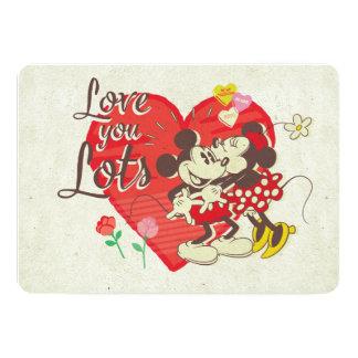 Vintage Mickey & Minnie | Love You Lots Card