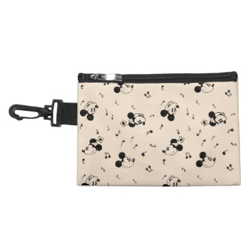 Disney Themed Vintage Mickey & Minnie Music Pattern Accessory Bag
