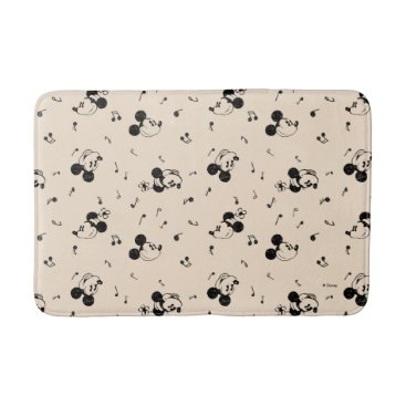 Disney Themed Vintage Mickey & Minnie Music Pattern Bathroom Mat