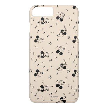 Disney Themed Vintage Mickey & Minnie Music Pattern iPhone 7 Plus Case