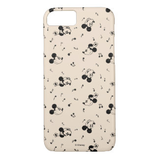 Vintage Mickey & Minnie Music Pattern iPhone 8/7 Case