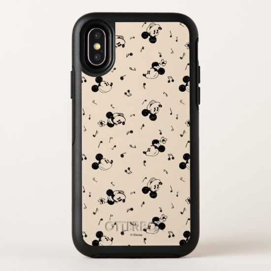 Vintage Mickey & Minnie Music Pattern OtterBox Symmetry iPhone X Case