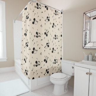 Vintage Mickey & Minnie Music Pattern Shower Curtain