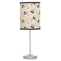 Vintage Mickey & Minnie Music Pattern Table Lamp