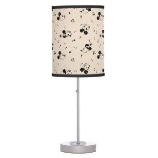 Vintage Mickey & Minnie Music Pattern Table Lamp