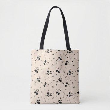 Disney Themed Vintage Mickey & Minnie Music Pattern Tote Bag