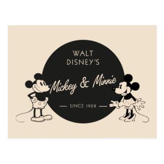 Vintage Mickey & Minnie Postcard