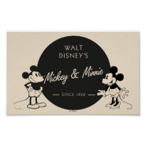 Vintage Mickey & Minnie Poster