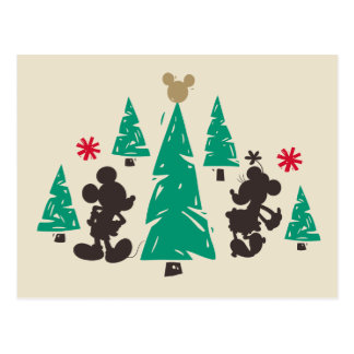 Vintage Mickey & Minnie | Season's Greetings Postcard