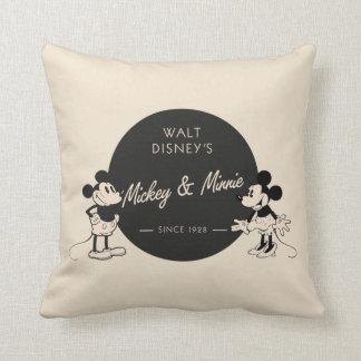 Vintage Mickey & Minnie Throw Pillow