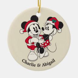 Vintage Mickey & Minnie | Warm & Cozy Ceramic Ornament