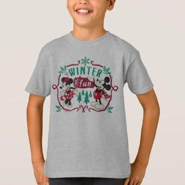 Disney Themed Vintage Mickey & Minnie | Winter Fun T-Shirt