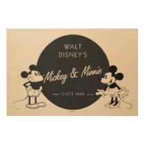 Vintage Mickey & Minnie Wood Wall Decor