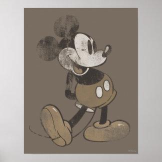 Vintage Mickey Mouse 1 Póster