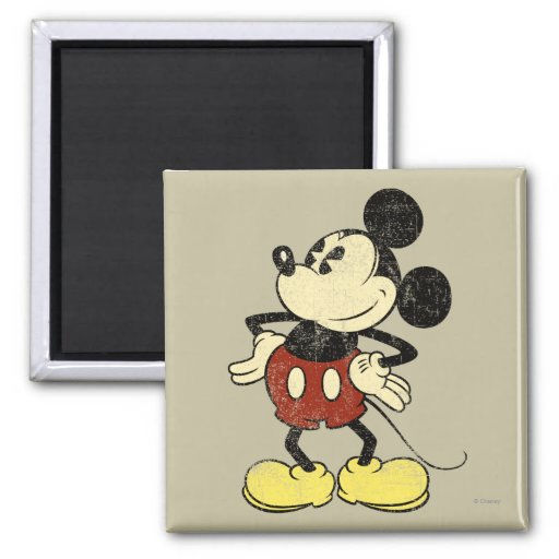 Vintage Mickey Mouse 2 2 Inch Square Magnet