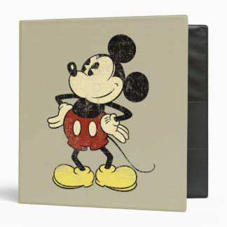 Vintage Mickey Mouse 2 3 Ring Binder