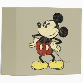 Vintage Mickey Mouse 2 3 Ring Binders