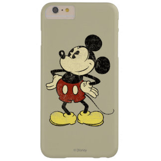 Vintage Mickey Mouse 2 Funda Para iPhone 6 Plus Barely There