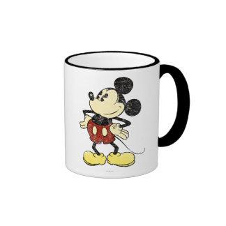 Vintage Mickey Mouse 2 Taza A Dos Colores