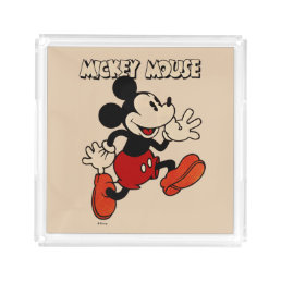 Vintage Mickey Mouse Acrylic Tray