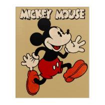 Vintage Mickey Mouse Acrylic Wall Art