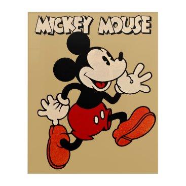 Disney Themed Vintage Mickey Mouse Acrylic Wall Art