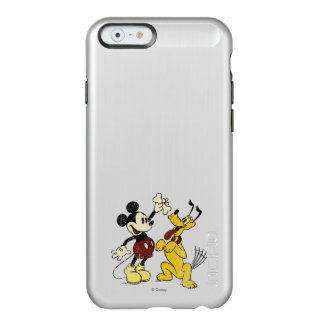 Vintage Mickey Mouse and Pluto Incipio Feather® Shine iPhone 6 Case