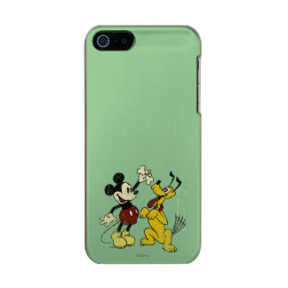 Vintage Mickey Mouse and Pluto Incipio Feather® Shine iPhone 5 Case