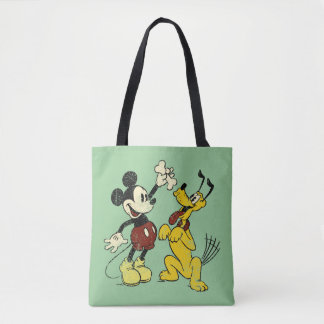 Vintage Mickey Mouse and Pluto Tote Bag