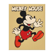 Vintage Mickey Mouse Canvas Print