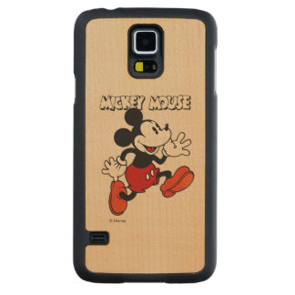 Vintage Mickey Mouse Carved Maple Galaxy S5 Slim Case