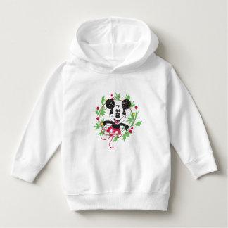 Vintage Mickey Mouse   Christmas Wreath Hoodie