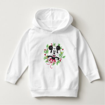 Disney Themed Vintage Mickey Mouse | Christmas Wreath Hoodie